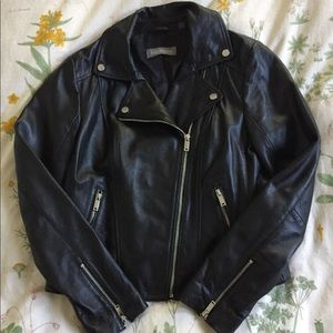 Bagatelle Real Lamb Leather Moto Jacket